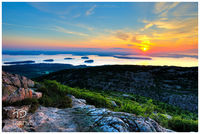 Harbor, Sunrise, Ocean, Bar, Sea, Glow, Maine, New England, Cadillac, Mountain