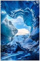 archeus, crystal cave, ice, cave, iceland, blue ice, snow, water, flows, nature, force, sky, primal force, growth
