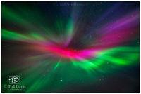 aurora, northern lights, iceland, horizon, stars, lights, pink, green, beautiful, eye