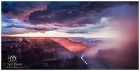 lightning, grand, canyon, arizona, thunderstorm, South Rim, Rim, Rain, walls, Colorado, River, Danger, sun, setting sun, sunset, clouds, rays, cutting, Mother nature, powerful
