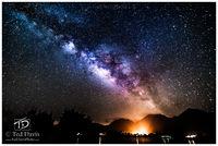Hanalei, Kaua'i, Halo, Milky Way, Waves, Ocean, Pier, Night, Stars, Galaxy, nightsky, island, heavens, cosmos