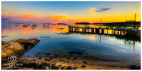 Cape Porpoise, pier, ocean, sunset, harbor