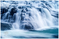 gullfoss, golden falls, iceland, blizzard, waterfall, majesty, echoed, mist, calm, violence
