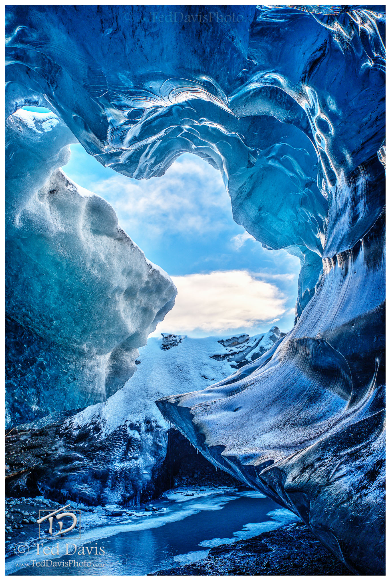 archeus, crystal cave, ice, cave, iceland, blue ice, snow, water, flows, nature, force, sky, primal force, growth, photo