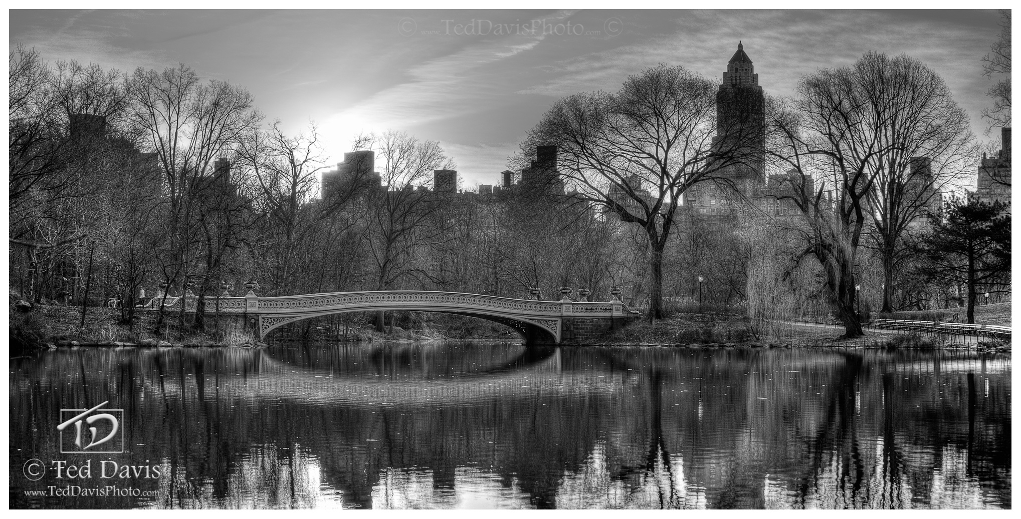 timeless, spring, New York, Central Park, reflection, bridge, trees, Upper East Side, photo