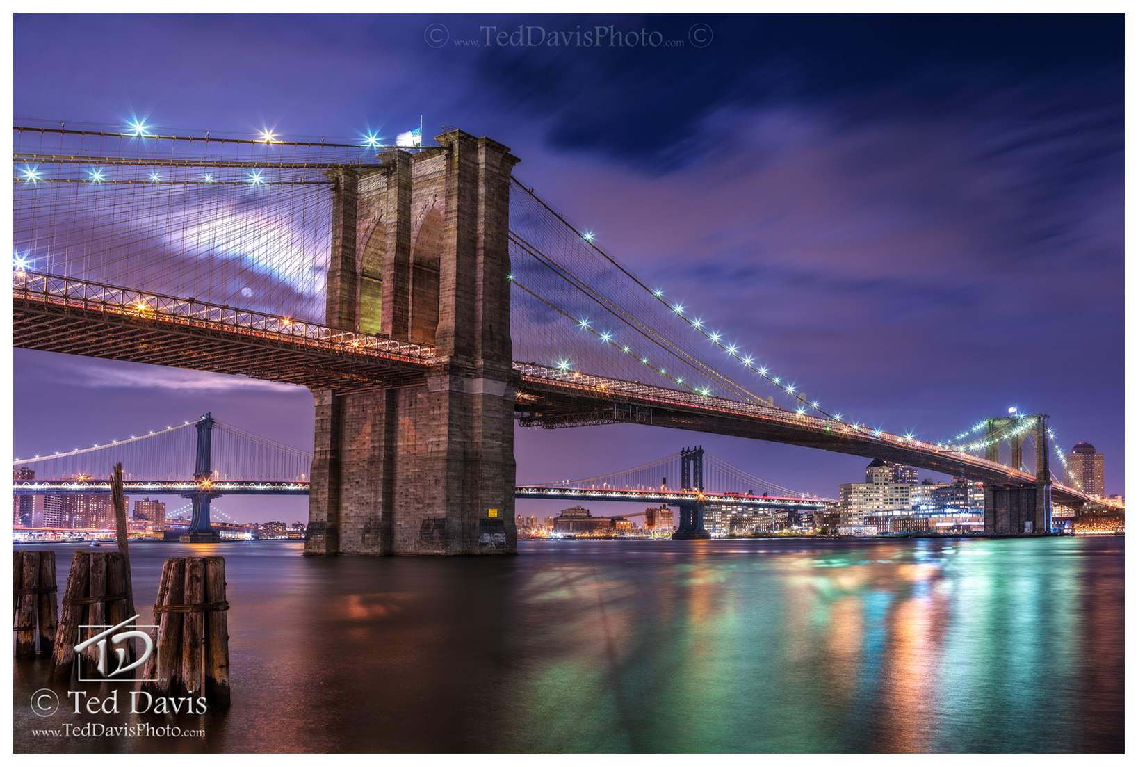 new york, brooklyn, crossings, east, river, bridge, manhattan, ingenuity, full moon, moon, glow, photo