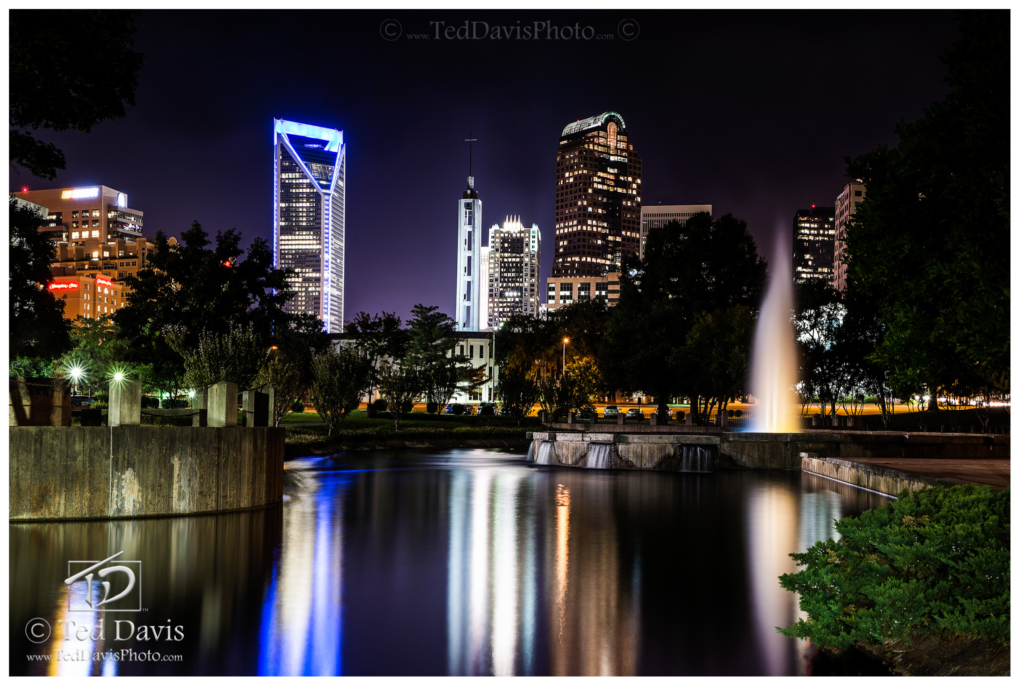 downtown, charlotte, downtown charlotte, night, twilight, bliss, workday, chaos, beauty, photo