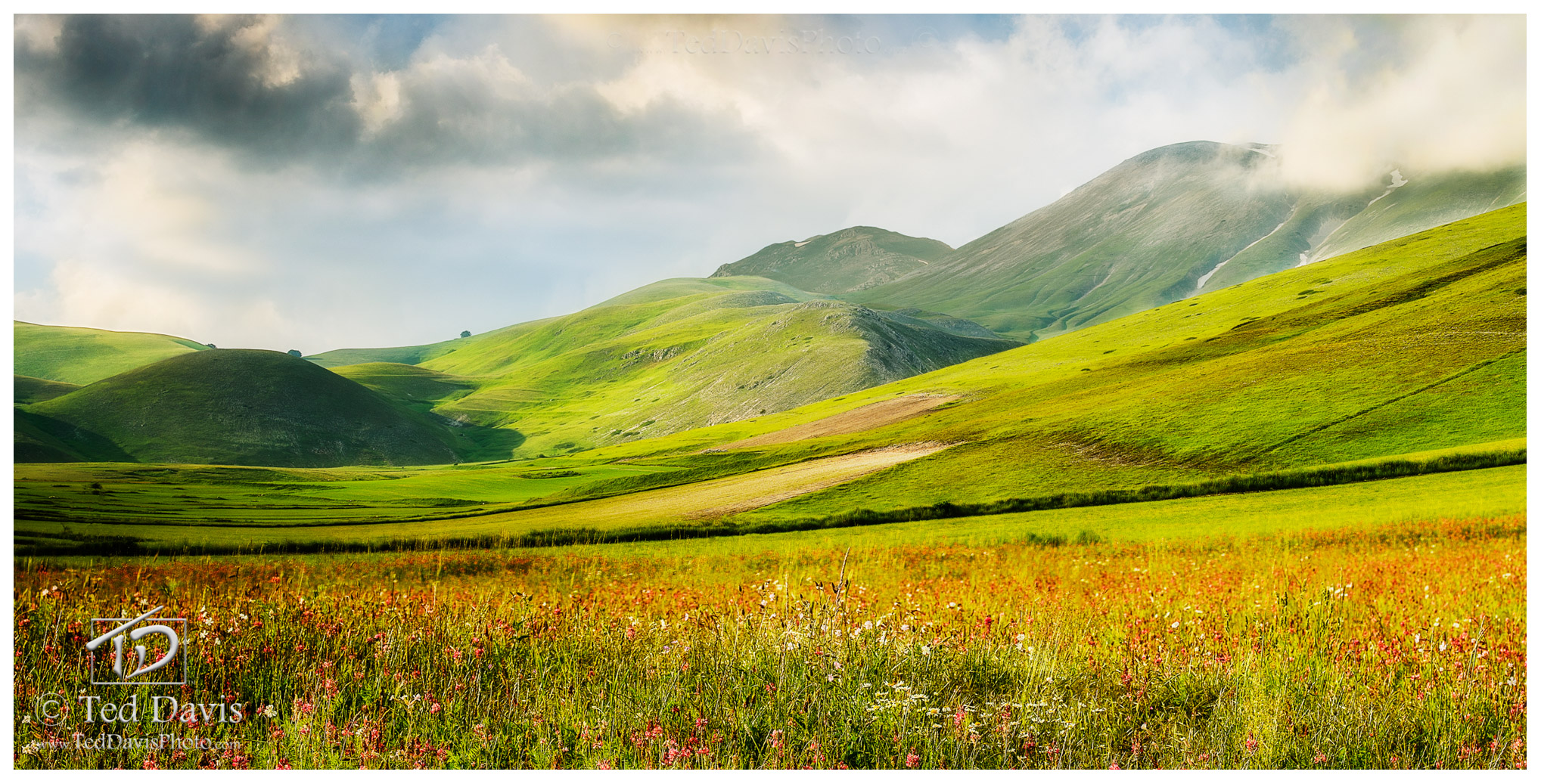 Limited Edition of 100 Situated on a hill in the middle of a 2,000 meter high valley, Castelluccio is the quintessence of '...