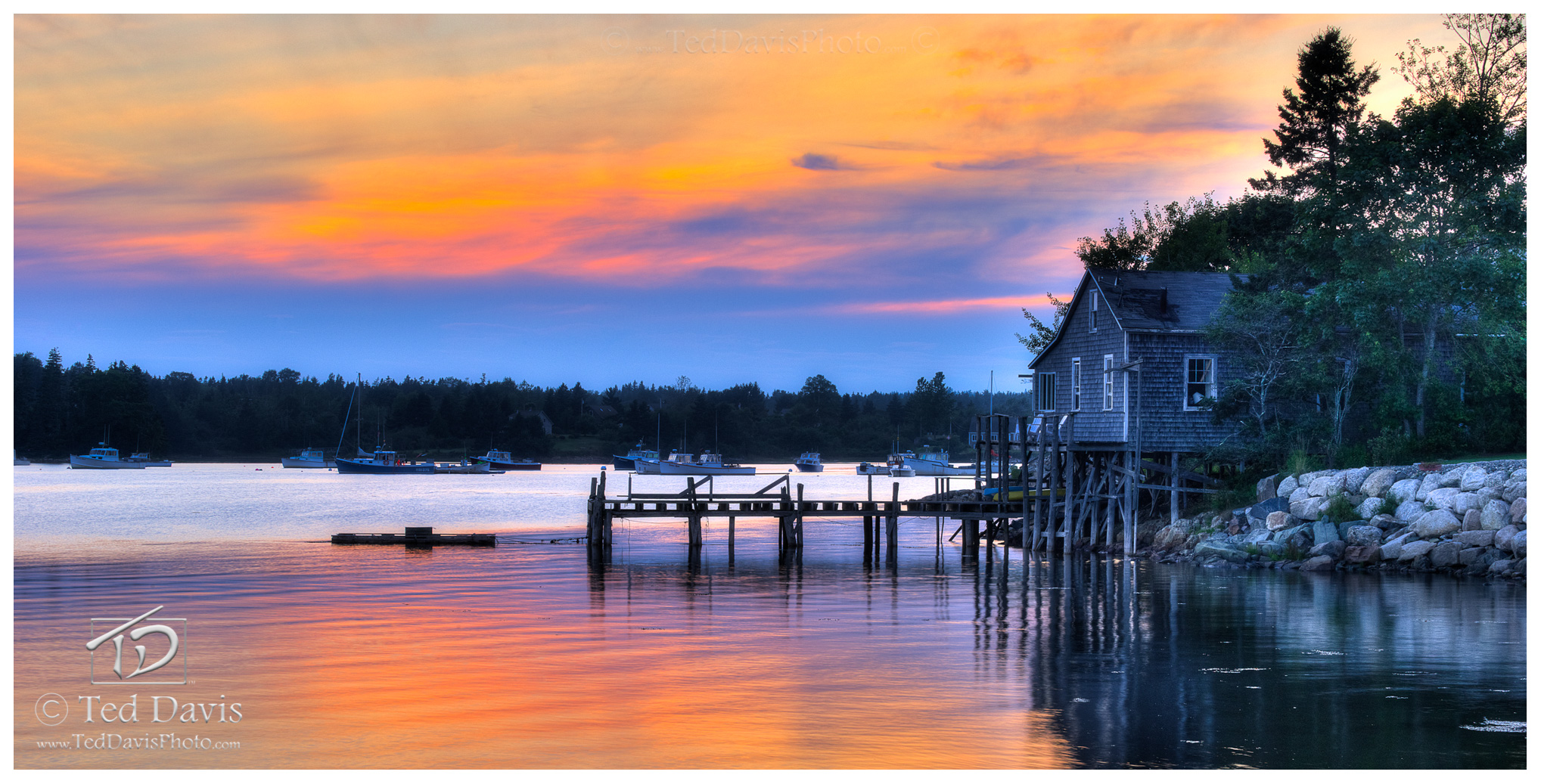 sunset, new england, harbor, coastal, lake, river, pond, ocean, serenity, pier, photo