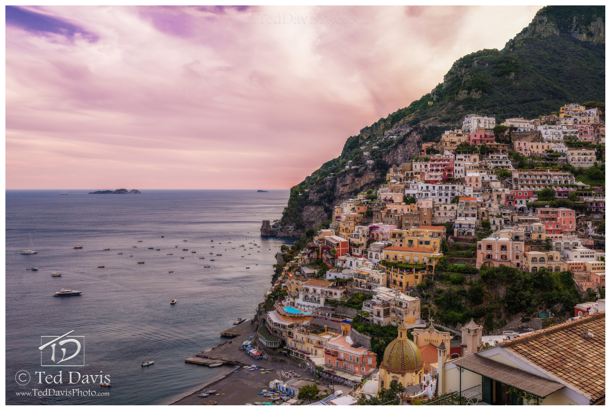 Limited Edition of 100 On fantastic Amalfi coast is Positano. Driving along the Mediterranean Sea, I was spellbound at the houses...