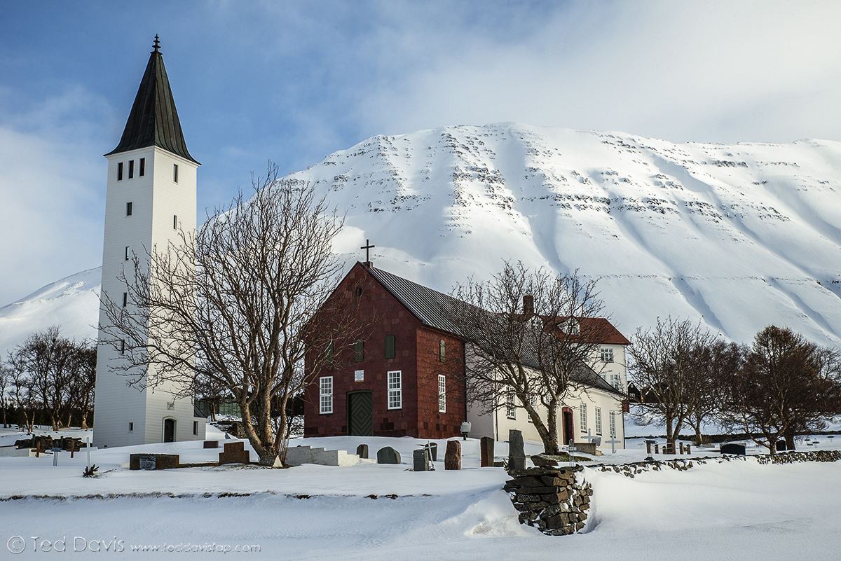 church, holar, iclenad, fjords, catholic, valley, peaks, snow, ponies, town, photo